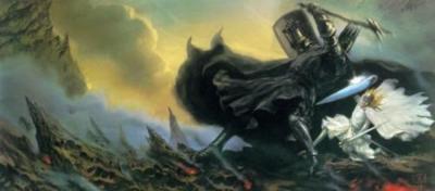 silma_fingolfin - O Rei Élfico Fingolfin luta contra o Senhor do Escuro Morgoth