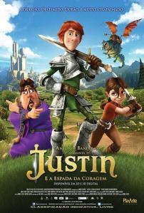 Justin e a Espada da Coragem - poster nacional