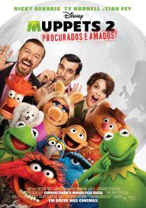 Muppets 2: Procurados e Amados - poster nacional