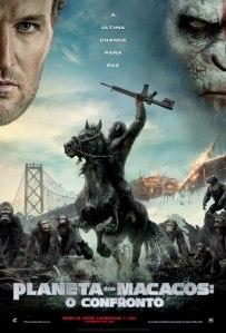 Planeta dos Macacos: O Confronto - poster nacional