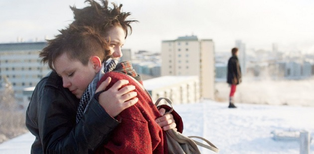Mira Grosin and Jonathan Salomonsson in We Are the Best[3]
