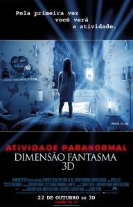 Atividade Paranormal: Dimensão Fantasma - poster nacional