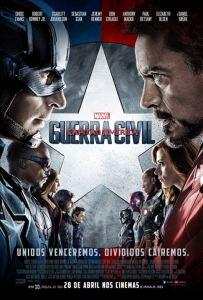 Capitão América: Guerra Civil - poster nacional